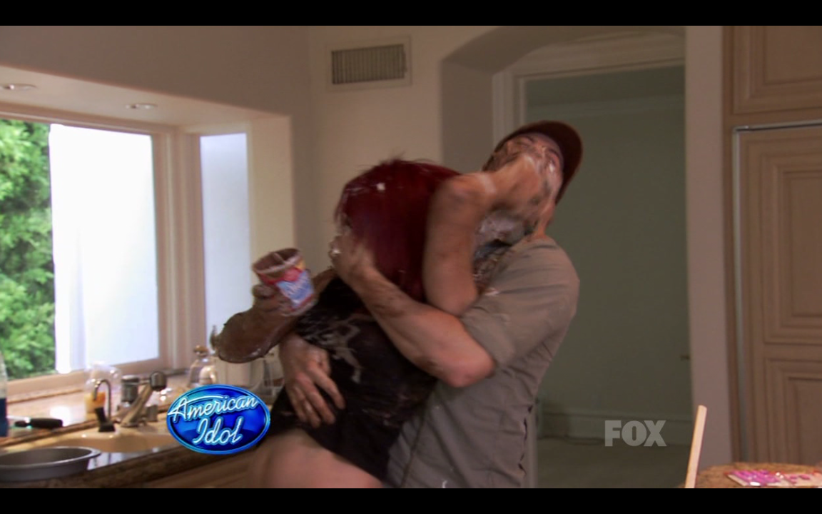 American Idol Cake Fight - Danny (age 29) and Allison (age 16)